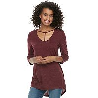Juniors' SO® Strappy T-Front Tee