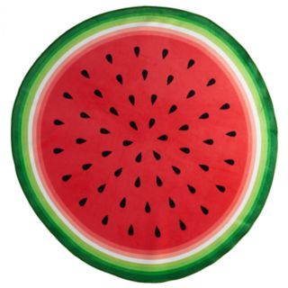 Celebrate Summer Together Round Watermelon Beach Towel