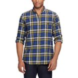 Big & Tall Chaps Regular-Fit Plaid Flannel Performance Button-Down Shirt