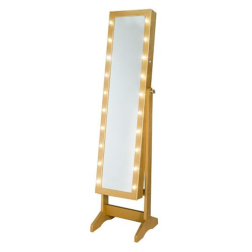 Innere Light Up Marquee Gold Tone Wall Floor Mirror