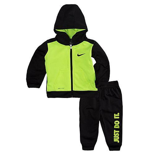 2d9368b1c Baby Boy Nike Therma-FIT Colorblock Hoodie   Jogger Pants Set