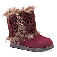 MUK LUKS Reverse Patti Women's Water Resistant Winter Boots