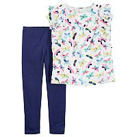 Girls 4-8 Carter's Butterfly Top & Leggings Set