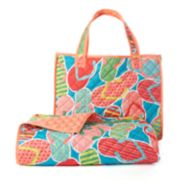 Celebrate Summer Together Flip Flop Quilted Beach Blanket & Tote