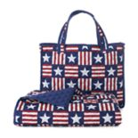 Celebrate Summer Together Americana Quilted Beach Blanket & Tote