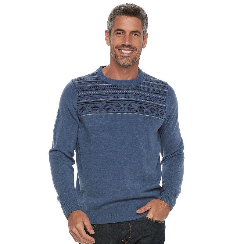 83d81ecb758a Big   Tall Croft   Barrow® Classic-Fit Crewneck Sweater