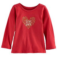 Baby Girl Jumping Beans® Holiday Glitter Graphic Tee
