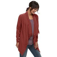 Women's SONOMA Goods for Life™ Fringe Flyaway Cardigan