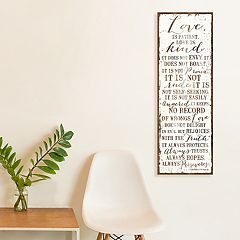 Artissimo Designs Faux Wood 'Love Is Patient' Canvas Wall Art