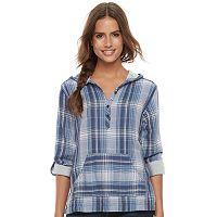 Women's SONOMA Goods for Life™ Plaid Hoodie Tee