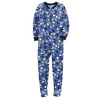 Boys 4-8 Carter's Sports 1-Piece Footed Pajamas