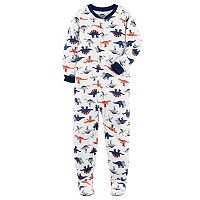 Boys 4-8 Carter's Dinosaur 1-Piece Footed Pajamas