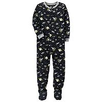 Boys 4-8 Carter's Space 1-Piece Footed Pajamas