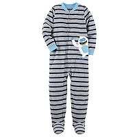 Boys 4-8 Carter's Yeti Striped 1-Piece Footed Pajamas
