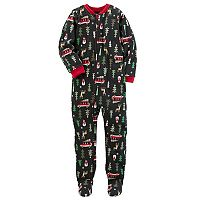 Boys 4-8 Carter's Christmas Tree 1-Piece Footed Pajamas