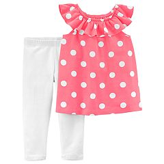 Girls 4-8 Carter's Polka-Dot Top & Leggings Set