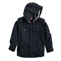 Boys 8-20 French Toast Hooded Button-Down Shirt