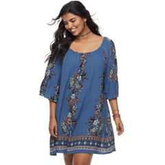 Juniors' Plus Size HeartSoul Floral Shift Dress