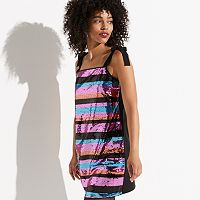 k/lab Striped Sequin Mini Dress