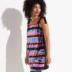 k/lab Striped Sequin Mini Dress