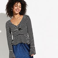 k/lab Bell Sleeve Stripe Tee
