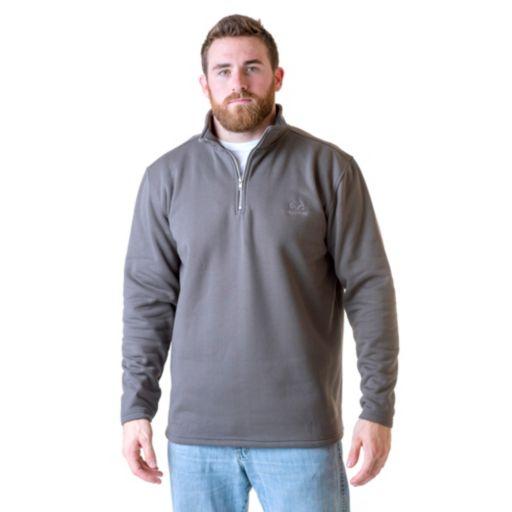 Men's Real Tree Quarter-Ziip Polar Fleece Top