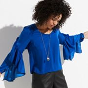 k/lab Ruffled Sleeve Blouse