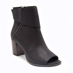 Mari A. Arrow Women's Peep Toe Ankle Boots