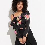 k/lab Floral Off-Shoulder Blouse