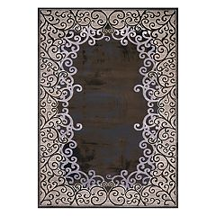 United Weavers Christopher Knight Mirage Luminous Filagree Framed Rug - 2'7' x 3'11'