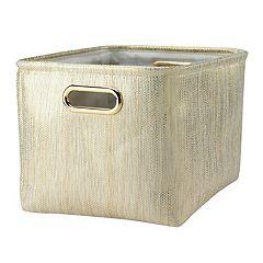 Lambs & Ivy Confetti Gold Storage Bin