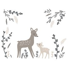 Lambs & Ivy Meadow Deer Wall Appliques
