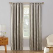 Sun Zero Atticus Metallic Blackout Window Curtain