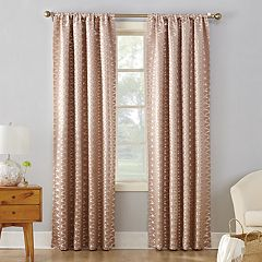 Sun Zero Blackout 1-Panel Atticus Metallic Window Curtain