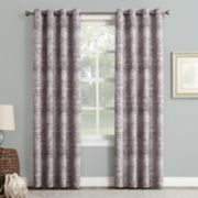 Sun Zero Blackout 1-Panel Darren Distressed Window Curtain