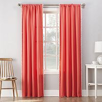 No918 Gigi Pom Pom Microfiber Window Curtain