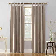 Sun Zero Blackout 1-Panel Ludlow Tab Top Window Curtain