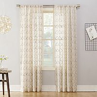 No918 Lima Embroidered Scallop Sheer Window Curtain