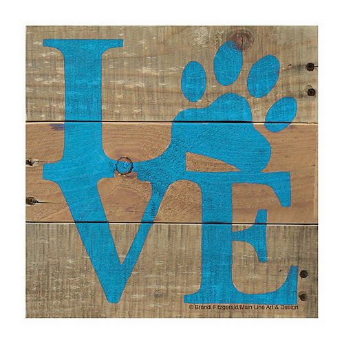 Thirstystone OCS Love Pets Blue 4-pc. Coaster Set