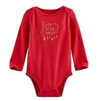 Jumping Beans® Baby Girl Christmas Glittery Graphic Bodysuit