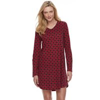 Women's Croft & Barrow® Pajamas: Knit Sleep Shirt