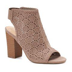 LC Lauren Conrad Statice Women's Cutout Ankle Boots