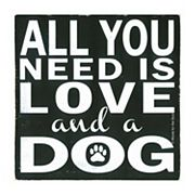 Thirstystone OCS Love and a Dog 4 pc Coaster Set