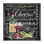 Thirstystone OCS Cheers Wine Art 4 pc Coaster Set