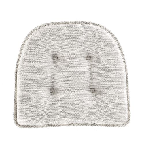 Food Network™ Stain-Resistant Wicked Gray Chair Pad