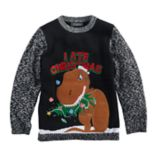 Boys 8-20 T-Rex Christmas Sweater