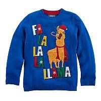 Boys 8-20 Fa La La Llama Sweater