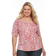 Plus Size Croft & Barrow® Essential Scoopneck Tee