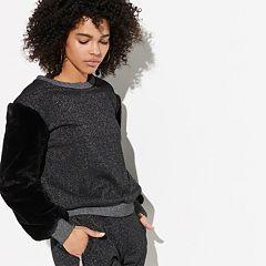 k/lab Faux-Fur Sleeve Sweatshirt