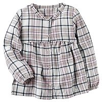 Toddler Girl Carter's Sparkle Plaid Button-Down Shirt